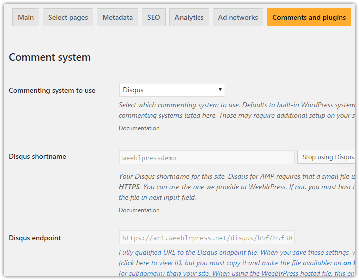 Automatic Disqus Comments – A multi-purpose AMP-enabled site